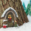 Miniature Christmas Santa's Workshop Door