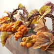 Gold Artificial Grape Cluster and Leaf Garland