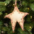 Primitive Pillow Ticking Star Ornament