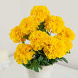 Golden Yellow Artificial Marigold Bush