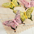 Yellow and Pink Artificial Butterflies