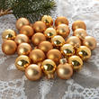 Miniature Gold Christmas Ball Ornaments