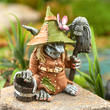 Miniature Clementine the Charlady Garden Troll