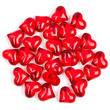 Red Acrylic Heart Gem Stones