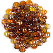 Amber Gold Flat Glass Gems