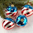Hand Painted Patriotic Christmas Ball Ornaments