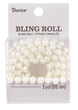 Single Row White Pearl Bling Sticker Roll