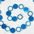 Blue Holographic Circle and Loop Garland
