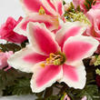 Pink Artificial Rose, Lily, and Gladiolus Half Bush