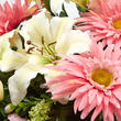 Pink Artificial Gerbera Daisy, Lily, and Gladiolus Half Bush