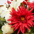 Red Artificial Gerbera Daisy, Lily, and Gladiolus Half Bush