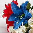 Red White and Blue Artificial Dahlia and Lily Bush