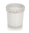 White Glass Votive Candle Holders
