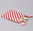 Red Stripes Paper Treat Bags