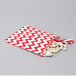 Red Chevron Paper Treat Bags