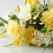 Yellow Artificial Carnation and Daisy Bush