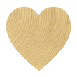 Unfinished Hardwood Hearts