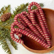 Primitive Jute Candy Cane Ornaments