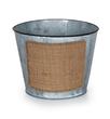 Burlap Labeled Galvanized Bucket