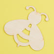 Unfinished Wood Bee Cutout