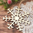 Unfinished Wood Snowflake Ornament