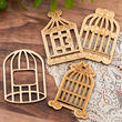 Unfinished Wood Birdcage Cutouts
