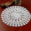 White Round Crocheted Doily