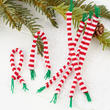 Miniature Knit Striped Christmas Scarves