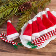 Miniature Santa Hats and Scarf Sets
