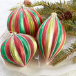 Red and Green Christmas Ornament Set