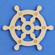 Unfinished Wood Ship Wheel Cutout
