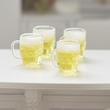 Dollhouse Miniature Filled Beer Mugs