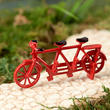 Dollhouse Miniature Red Tandem Bicycle