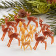 Dozen Teeny Tiny Deer Figurines