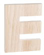 "Unfinished Wood Bold Letter ""E"""