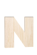 "Unfinished Wood Bold Letter ""N"""