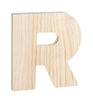 "Unfinished Wood Bold Letter ""R"""