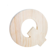 "Unfinished Wood Bold Letter ""Q"""