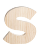 "Unfinished Wood Bold Letter ""S"""