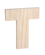 "Unfinished Wood Bold Letter ""T"""