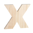"Unfinished Wood Bold Letter ""X"""