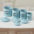 Dollhouse Miniature Blue Canister Set