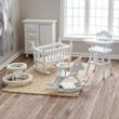 Dollhouse Miniature White Baby Nursery Set