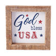 "Patriotic ""God Bless USA"" Tabletop Sign"
