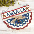 """America"" Bunting Wall Sign"