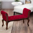 Dollhouse Miniature Red Tufted Settee