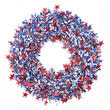 Patriotic Tinsel Wreath with Stars