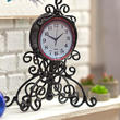 Dollhouse Miniature Black Ornate Mantel Clock
