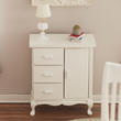 Dollhouse Miniature White Chest Wardrobe