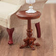Dollhouse Miniature Walnut Madame Curie End Table